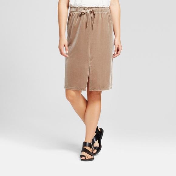 fd8ad966c1644 Target Mossimo Beige Velvet Skirt